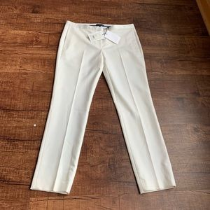 Theory winter white tux wool 8 tux pant trousers